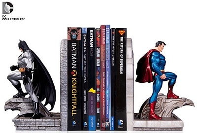 batman superman bookend