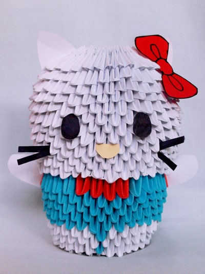 Origami 3D Hello Kitty - YouTube | 533x400