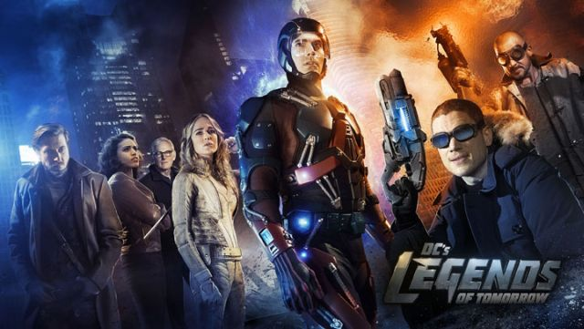 (From L-R) Arthur Darvill as Rip Hunter, Ciara Renee as Kendra/Hawkgirl, Victor Garber as Professor Martin Stein, Caity Lotz as White Canary, Brandon Routh as Ray Palmer/Atom, Wentworth Miller as Leonard Snart/Captain Cold, and Dominic Purcell as Mick Rory/Heat Wave