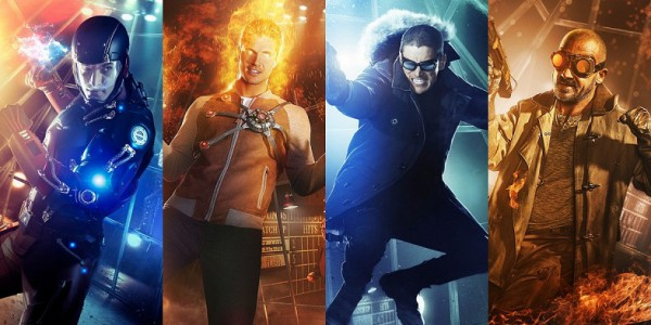 The Atom, Firestorm, Captain Cold, and Heat Wave