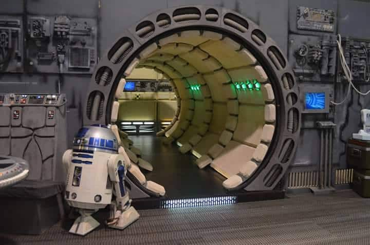 R2-D2 on board the Outrider