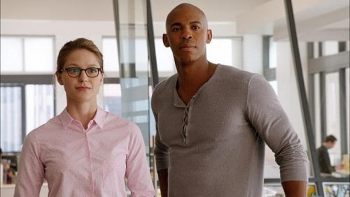 Kara (Melissa Benoist) and Jimmy (Mehcad Brooks) from 'Supergirl