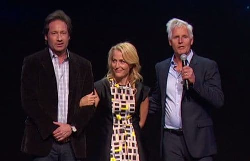 Duchovny, Anderson, and show creator Chris Carter
