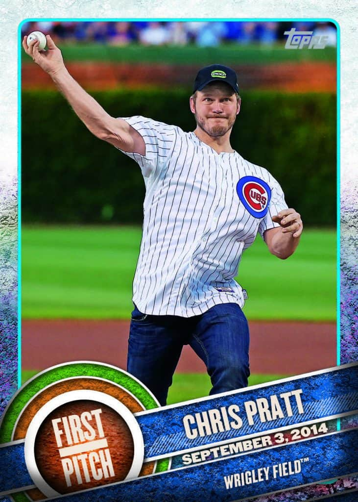 Topps New Celebrity First Pitch Cards Stan The Man Lee Chris