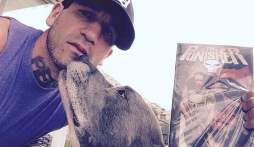 Jon Bernthal celebrated being Punisher by holding a comic