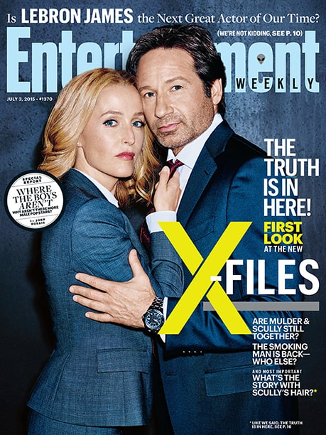 EW's X-Files cover For much more on the return of Mulder and Scully from our set visit, pick up the new issue of Entertainment Weekly on newsstands or buy it here.