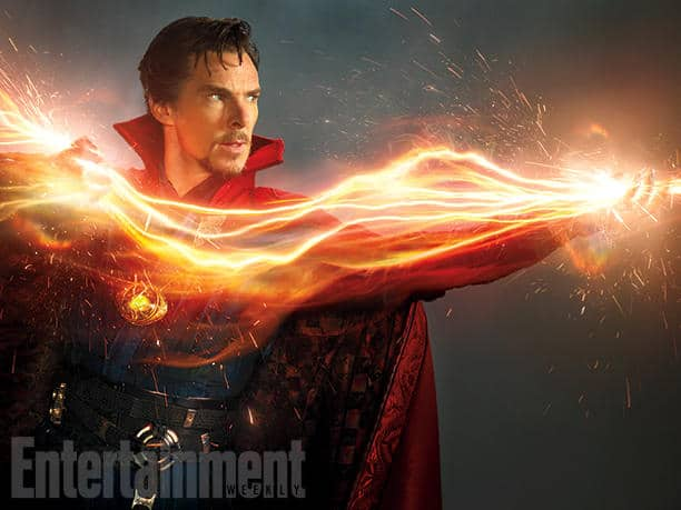 """Do You Believe in Magic? """"There's all sorts of craziness [in Doctor Strange],"""" says Cumberbatch. """"Falling, flying, jumping, fighting, punching, getting punched. It's really rough and tumble."""" Image Credit: Photograph by MICHAEL MULLER/© 2015 MVLFFLLC. TM & © 2015 Marvel. All Rights Reserved."""