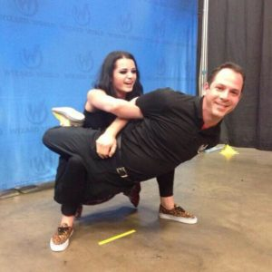 WWE's Paige tied up with Shamus in Oct. 2014