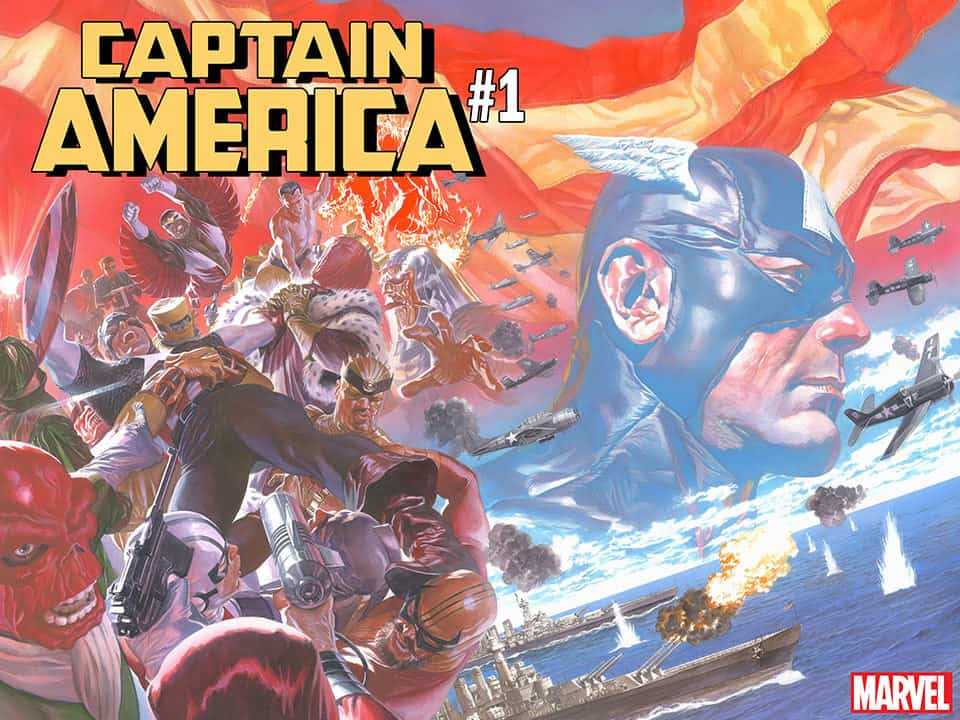 Captain America #1 - Full Cover by Alex Ross