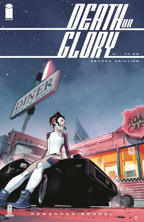 Death or Glory #1 - Second Printing cover