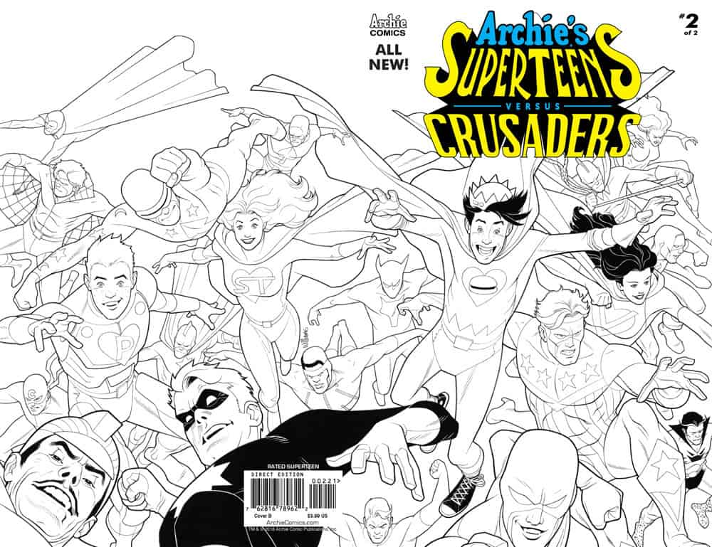 Archie's Superteens Vs Crusaders #2 - Cover B