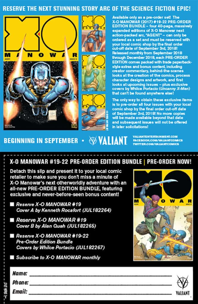 X-O MANOWAR (2017) #19-22 PRE-ORDER EDITION BUNDLE Coupon