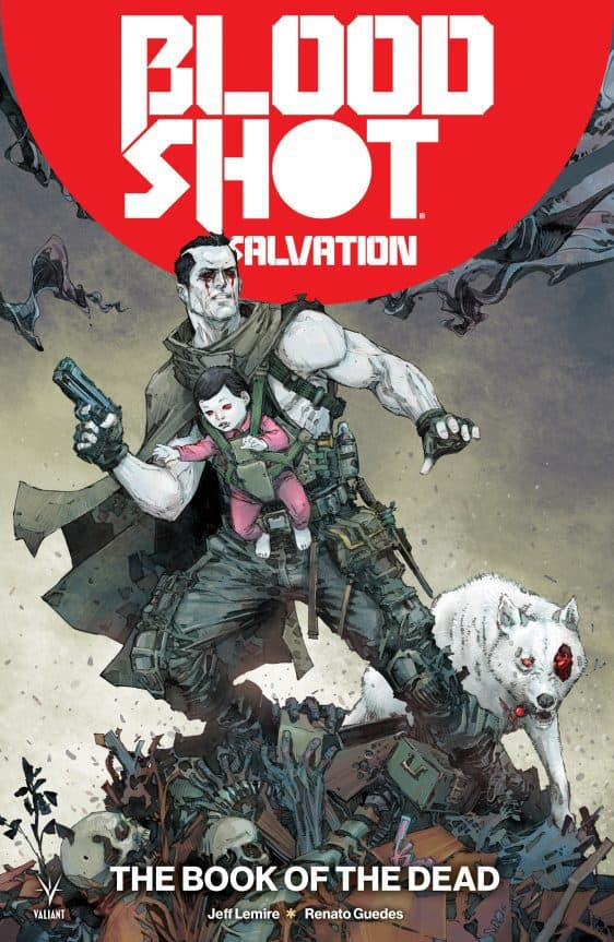 """BLOODSHOT SALVATION Vol. 2 TPB: """"The Book of the Dead"""" cover"""