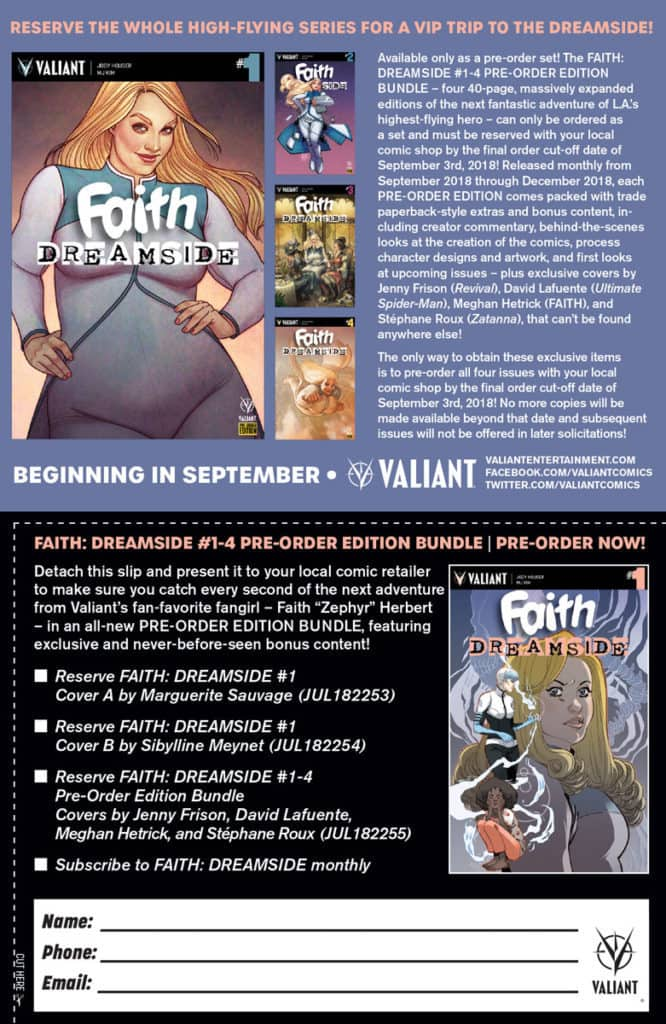 FAITH: DREAMSIDE #1-4 PRE-ORDER EDITION BUNDLE Coupon