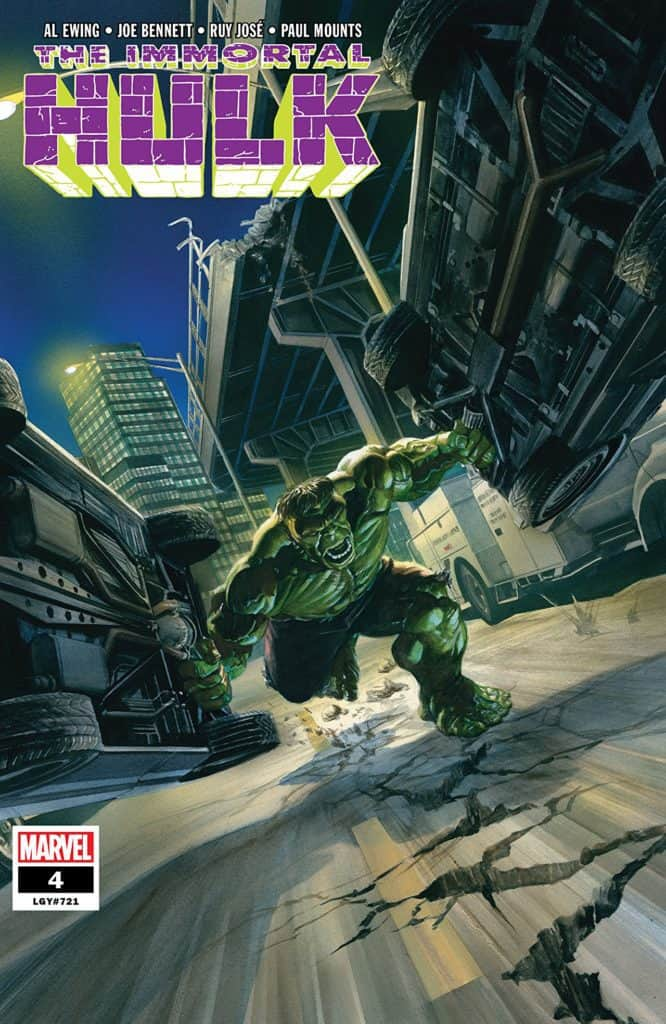The Immortal Hulk #4 - Main Cover by Alex Ross